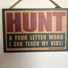 """Of all four letter words, """"hunt"""" is definitely family friendly."""
